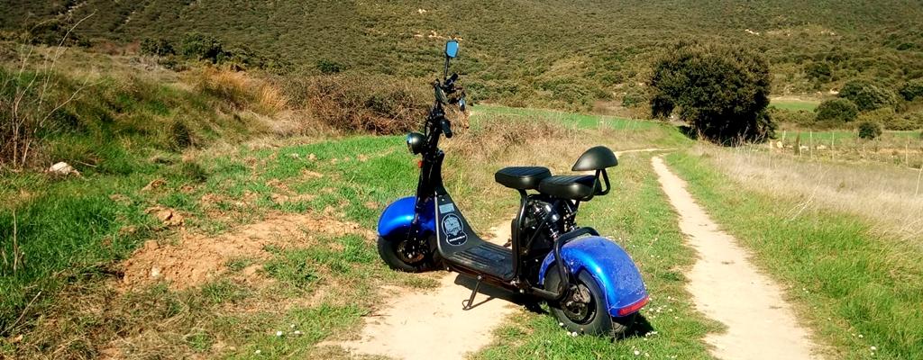 ruta en moto eléctrica en rioja alavesa